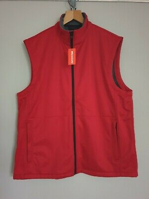Result Softshell 3 Layered Gilet Bodywarmer Outdoor Workwear Red Unisex Size 2Xl
