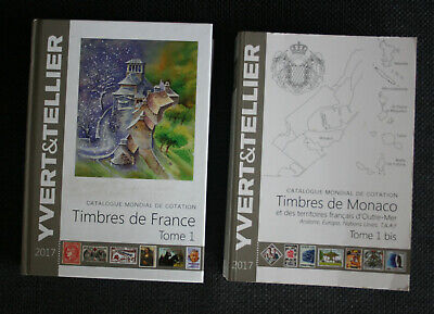 Catalogues timbres Yvert et Tellier 2017 Tome 1 et Tome 1bis