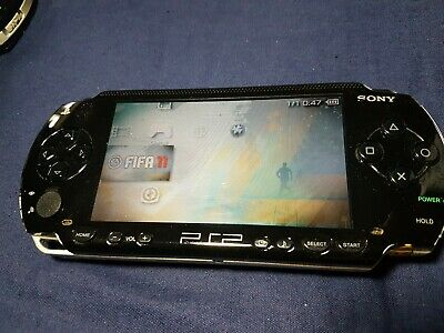 SONY PSP PlayStation Portable Games Handheld Console In Black 1000 Range D Grade