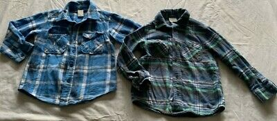 2 x Boys size 4  long sleeve check  Flannelette shirts  flannel