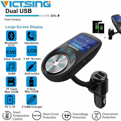 Bluetooth FM Transmitter Auto MP3 Player USB Ladegerät SD AUX Freisprechanlage