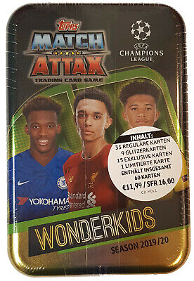 Topps Match Attax Champions League 2019/2020 Mega Tin Box Wonderkids 19/20