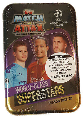 Topps Match Attax Champions League 2019/2020 Mega Tin Box Superstars 19/20