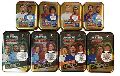 Topps Match Attax Champions League 2019/2020 alle 4 Mega Tin + alle 4 Mini Tin