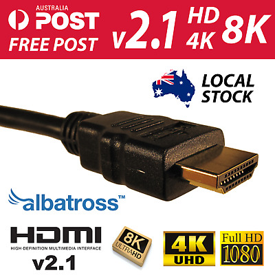 Albatross HDMI Cable V2.1 Ultra High Speed With Ethernet 48Gb/s 8K 4K UHD 3D HDR
