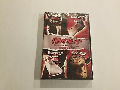 Friday the 13th: Parts 1 2 3D 4 - 4-Movie Collection (DVD, 2017) New