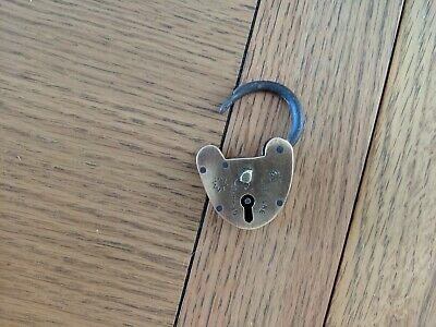 Brass Padlock Old Antique - small / miniature / decorative / collectable