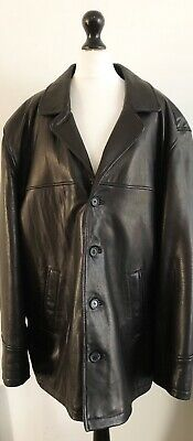 Mens Ciro Citterio Real Leather Jacket Coat Blazer Black Size L