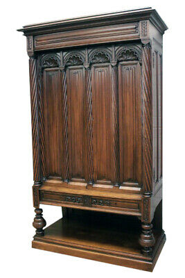 Fantastic Antique French Gothic Cabinet, Simple But Elegant, 19Th Century, Walnu