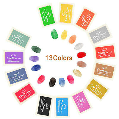 Ink Pads Rubber Stamps Non-Toxic Finger Stamp Multicolor Kid DIY Craft Stamp New