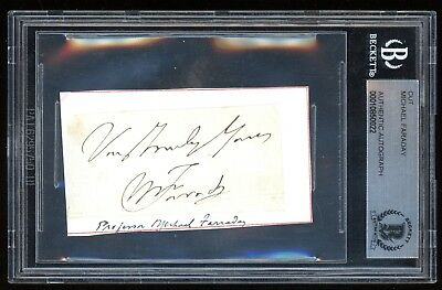 Michael Faraday Signed Cut Beckett BAS English Scientist Magnetism Autograph