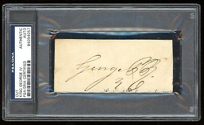 King George IV of England Prince Regent 1820-1830 Signed Cut PSA/DNA Autograph