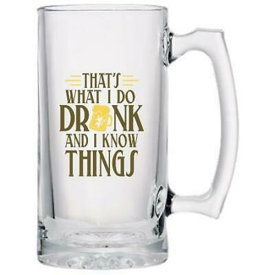 That's What I do, Drink and I Know Things - Beer Mug