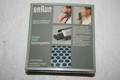 Braun Rechargeable Shaver Model 2501