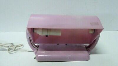Vintage Art Deco Pink White Mottled Bakelite Clip On Bedhead Table Lamp Duperite