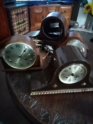 Various clocks and parts 2 working for spares or repair