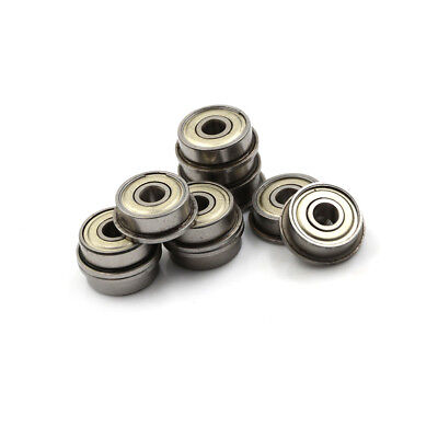 10pcs F625ZZ Steel Shielded Flanged Ball Precise Flange Bearing 5x16x5mm OQF