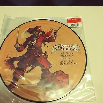 NEW Disney Parks Songs - Pirates of the Caribbean, Picture Vinyl Record, Seal