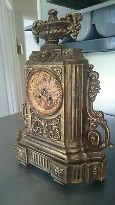 Antique Mantle Clock Case 1880s.Cast Iron.