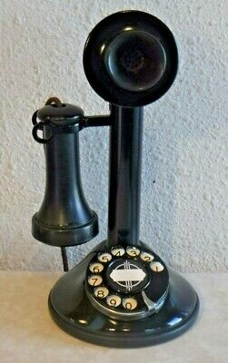 Automatic Electric RURAL Dial Candlestick Vintage Telephone Wired & Working!