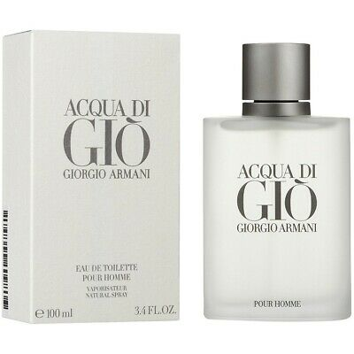 Acqua Di Gio 3.4 oz Eau De Toilette Cologne Spray For Men Giorgio Armani New