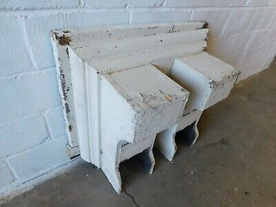 1800's Antique Wooden Double CORBEL / Bracket White VICTORIAN Style Large ORNATE
