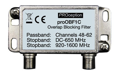 PROOBF1C Proception Overlap Blocking Filter Pass channels 48-62