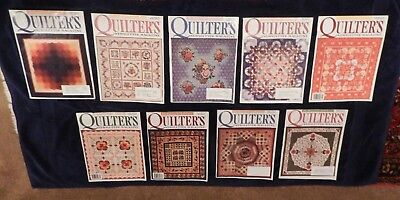 Quilters' Newsletter 2000 - 9 Issues - #320-328 - Patterns, Templates, Instruct
