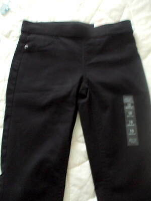 Justice Black Pull On Jean Legging Full Length Mid Rise Girls Sz 10  NWT