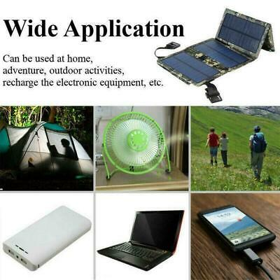 20W USB Foldable Solar Panel Power Bank Outdoor Camping Battery Charger Hik B2Z9