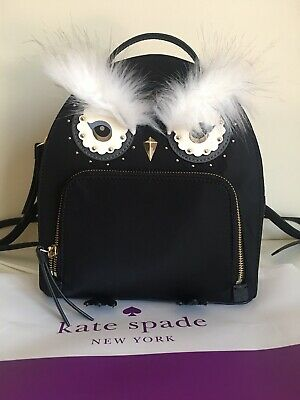 NWT Authentic KATE SPADE owl tomi star bright nylon Backpack 9//2018 released