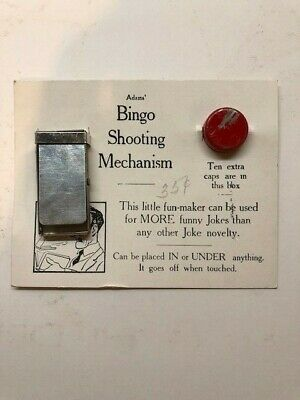 1940's SS Adams White Card Bingo Shooting Mechanism NOS moc old store stock