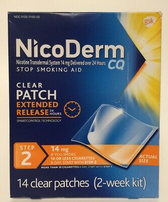 (New) Nicoderm Stop Smoking Aid Step2 14 clear patches