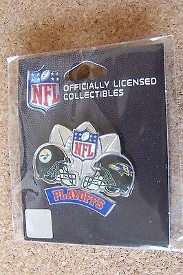 2009 NFL Playoffs Pittsburgh Steelers vs Baltimore Ravens Conference AFC pin