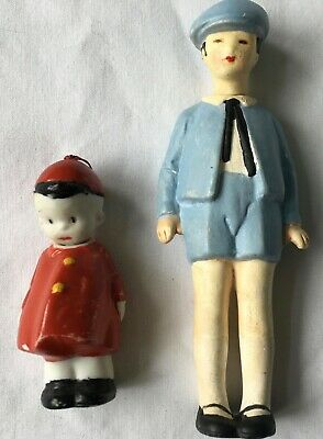 "HERBY nodder Bisque 1930s AND Germany BOY Nodder ""Knotter"" Bisque DOLL"