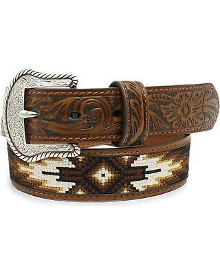 Nocona Boys' Tribal Stitched Western Belt Tan 22