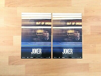2x Official DC JOKER Joaquin Phoenix 2019 Odeon Film/Cinema Poster - [Brand New]