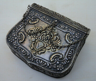 Antique Ottoman Balkan Greek Solid Silver Cartridge Belt Box