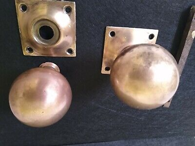 Victorian Bronze/Brass Door Knobs.