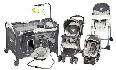Baby Trend Stroller Travel System with Car Seat Playard Swing High Chair TS27760