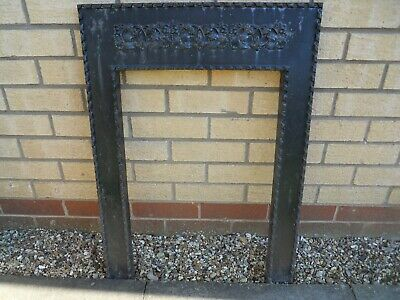 "Victorian / Edwardian cast iron fire surround, fire place, for 16"" fire"
