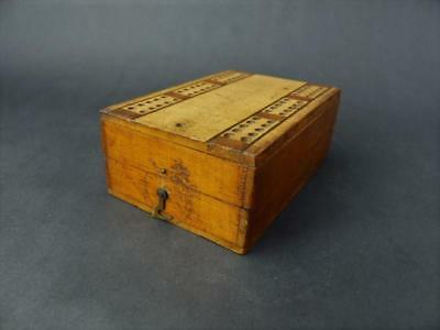 Cribbage  Box - Antique Wooden Boxes - Early 20th Century Boxes