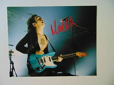 "RARE! ""The 1975"" Matthew Healy Hand Signed 10X8 Color Photo Todd Mueller COA"