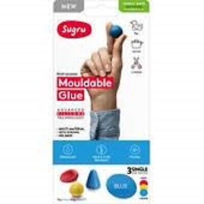 Sugru Mouldable Glue - Red, Yellow & Blue 3 Pack