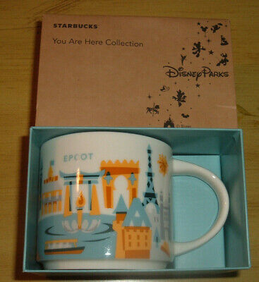 Starbucks - Disney World - EPCOT Coffee Mug - YAH - You Are Here - NEW IN BOX