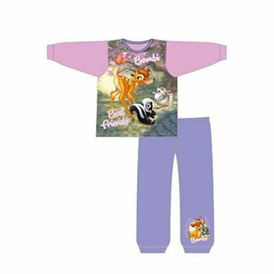 NEW Girls 100% Cotton Bambi  Pyjama set 18 Months - 5 years