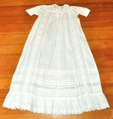 Vintage Christening Gown Lace and Ribbon