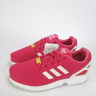Adidas Originals ZX Flux Kids Junior Trainers Shoes Casual Pink White UK 6