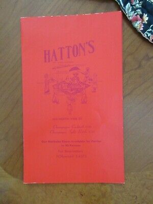 RARE VINTAGE Menu/Hatton's Restaurant Hollywood CA/Lebanon Food/MUST SEE