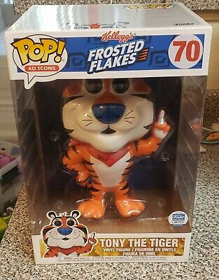 """Funko Pop Frosted Flakes Tony The Tiger 10"""" #70 Funko Shop Exclusive IN HAND!"""